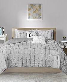 Intelligent Design Raina Reversible 5-Pc. Quilted Full/Queen Coverlet Set