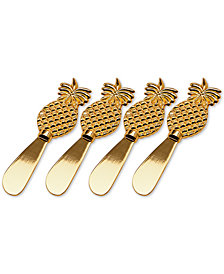 Godinger Pineapple Spreaders, Set of 4