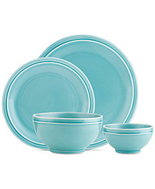 CLOSEOUT! Godinger Culinara Blue 16-Pc. Dinnerware Set, Service for 4