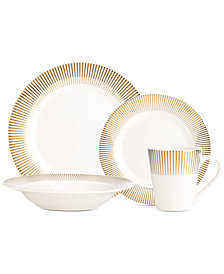 CLOSEOUT! GodingerRavi Gold 16-Pc. Dinnerware Set, Service for 4