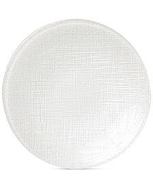 VIETRI Glitter Glass Linen Canapé Plate