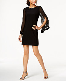 MSK Split-Sleeve Shift Dress