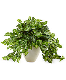Nearly Natural Nephthytis Artificial Plant in White Planter