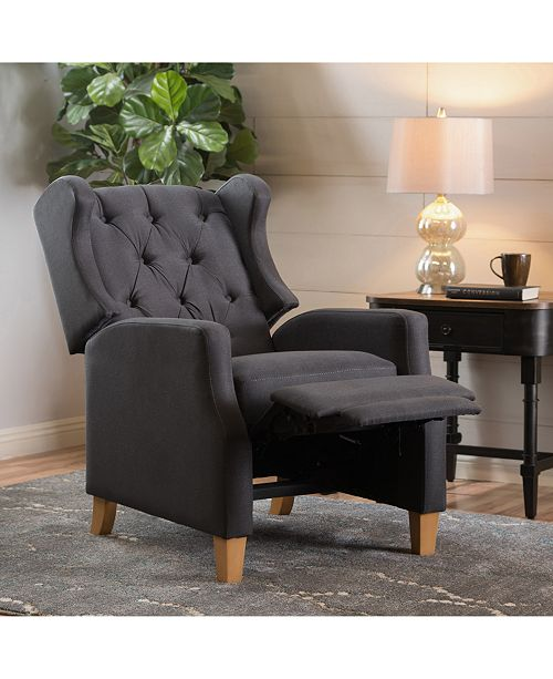 Noble House Varena Recliner Club Chair, Quick Ship