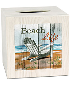 Saturday Knight Beach Time Tissue Box Cover