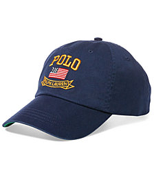 Polo Ralph Lauren Men's Big & Tall Flag Cotton Chino Baseball Cap