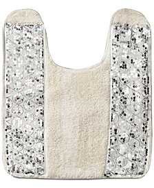 "Popular Bath Sinatra Sequin 21"" x 24"" Contour Bath Rug"