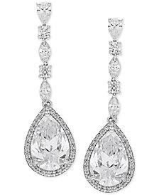 Arabella Swarovski Zirconia Teardrop Drop Earrings in Sterling Silver