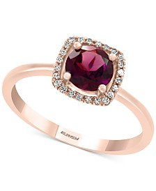 EFFY® Rhodolite (1 ct. t.w.) & Diamond Accent Ring in 14k Rose Gold