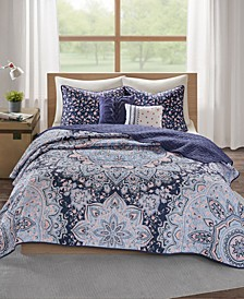 Odette Boho Reversible 5-Pc. Full/Queen Quilted Coverlet Set