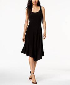 Anne Klein Scoop-Neck Asymmetrical Dress
