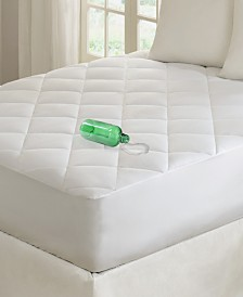 Madison Park Quiet Nights Cotton Sateen 300-Thread Count Waterproof Diamond Quilted Down-Alternative Mattress Pads