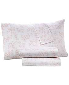 Westport Printed Organic 4-Pc. King Sheet Set, 500 Thread Count GOTS Certified Cotton