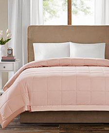 Madison Park Cambria Full/Queen Down Alternative Blanket, Embossed Oversized Reversible Quilted Microfiber with 3M Scotchgard™