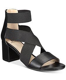 White Mountain Edie Block-Heel Sandals