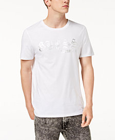 GUESS Men's Metallic Logo Graphic T-Shirt