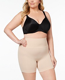 Women's  Plus Size Everyday Shaping Panties Mid-Thigh Short 10149P