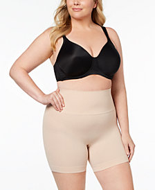 SPANX Women's  Plus Size Everyday Shaping Panties Mid-Thigh Short 10149R