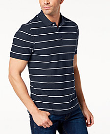 Club Room Men's Striped Piqué Polo, Created for Macy's