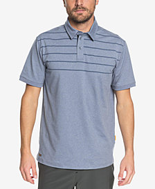 Quiksilver Men's Waterman Striped Reel Backlash Polo