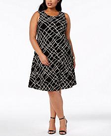 Anne Klein Plus Size Printed Swing Dress