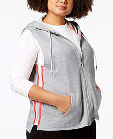 Calvin Klein Performance Plus Size Sleeveless Zip Hoodie