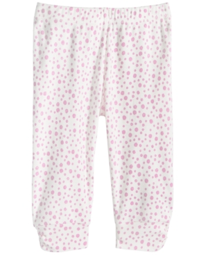 First Impressions Baby Girls DotPrint Ruched Cotton Jogger Pants Created for Macys
