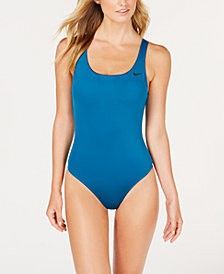 Nike U-Back Mesh-Inset One-Piece Swimsuit