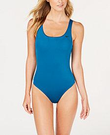 Nike U-Back Mesh-Inset One-Piece Swimsuit