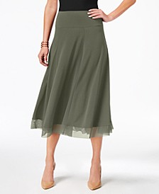 Mesh-Hem A-Line Skirt, Created for Macy's