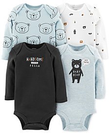 Carter's Baby Boys 4-Pack Bear-Print Bodysuits