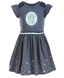 Disney Little Girls Elsa Graphic-Print Dress