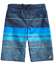 Laguna Big Boys Striped Swim Trunks