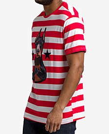 Hudson NYC Men's Striped Doberman Graphic T-Shirt