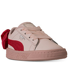 Puma Toddler Girls' Basket Bow Casual Sneakers from Finish Line
