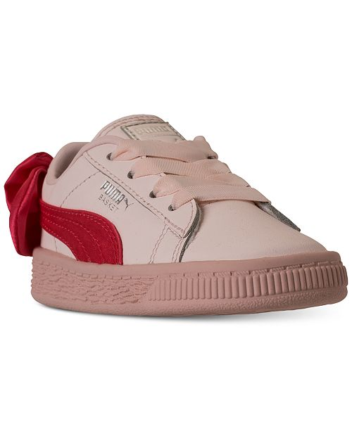 Puma Toddler Girls  Basket Bow Casual Sneakers from Finish Line ... f74036ffe