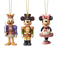 Jim Shore Minnie/Mickey/Donald Nutcracker, Set of 3 Ornaments