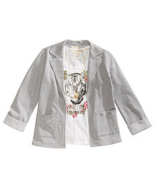 Belle Du Jour Big Girls 3-Pc. Blazer, Tank Top & Necklace Set