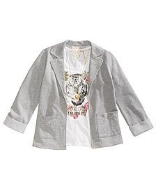 Belle Du Jour Big Girls 3-Pc. Blazer, Tank Top & Necklace Set