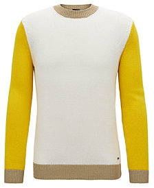 Aleyogo BOSS Men's Colorblock Crew-Neck