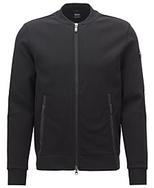 BOSS Men's Slim-Fit Bomber Sweatshirt