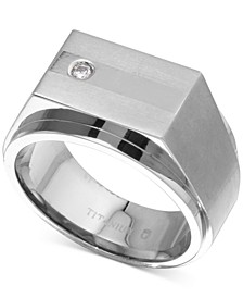 Men's Diamond Accent Ring in Titanium