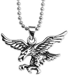 """Flying Eagle 24"""" Pendant Necklace in Stainless Steel"""