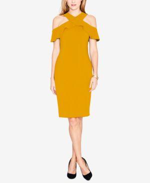 Rachel Rachel Roy Ruffled Cold-Shoulder Halter Dress