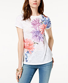 I.N.C. Printed Sequin-Embellished T-Shirt, Created for Macy's