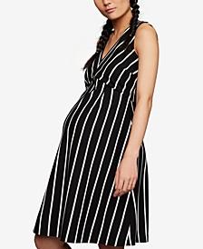 Maternity Striped A-line Dress