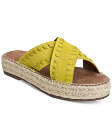 Aerosoles Rose Gold Espadrille Slide Sandals