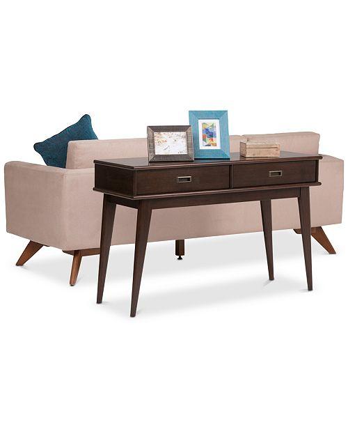 Simpli Home Kentler Mid Century Console Table, Quick Ship & Reviews ...
