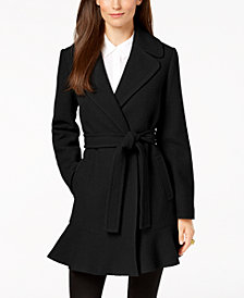 kate spade new york Ruffled Wrap Coat