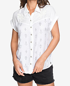 Roxy Juniors' Western Window Printed Button-Up Shirt